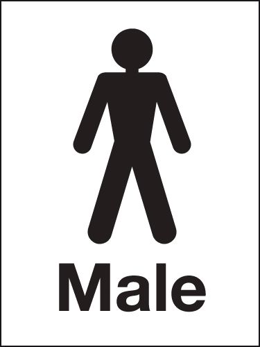 Signs Amp Labels 200x150mm Male Washroom Sign Rigid