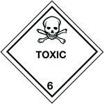 Product image for 100x100mm Toxic Hazard Warning Diamond Roll of 310