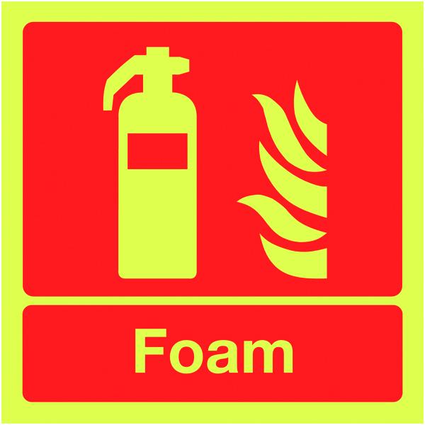 Signs Amp Labels 100x100mm Foam Extinguisher Nite Glo