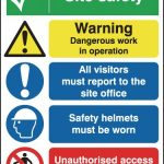 Product image for 600x450mm Site Safety Warning Dangerous Outdoor Sign