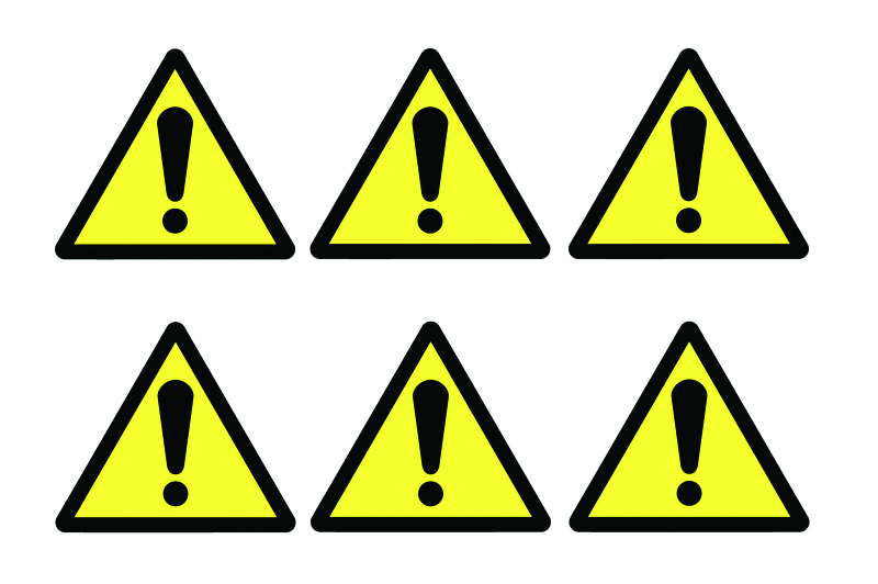 Signs Labels Hazard Symbols Pk Of 30 Labels Selectequip