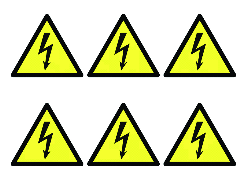 Signs & Labels Electricity Symbols - Pk of 30 Labels   Selectequip