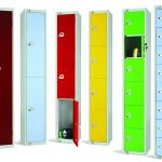 Product image for 8 Compartment 1800x300x450 Locker Yellow