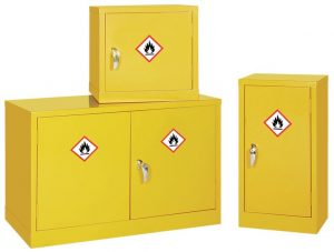 Product image for Mini Flammable Liquid Storage Cabinet - 610 x 457 x 457mm (HxWxD)