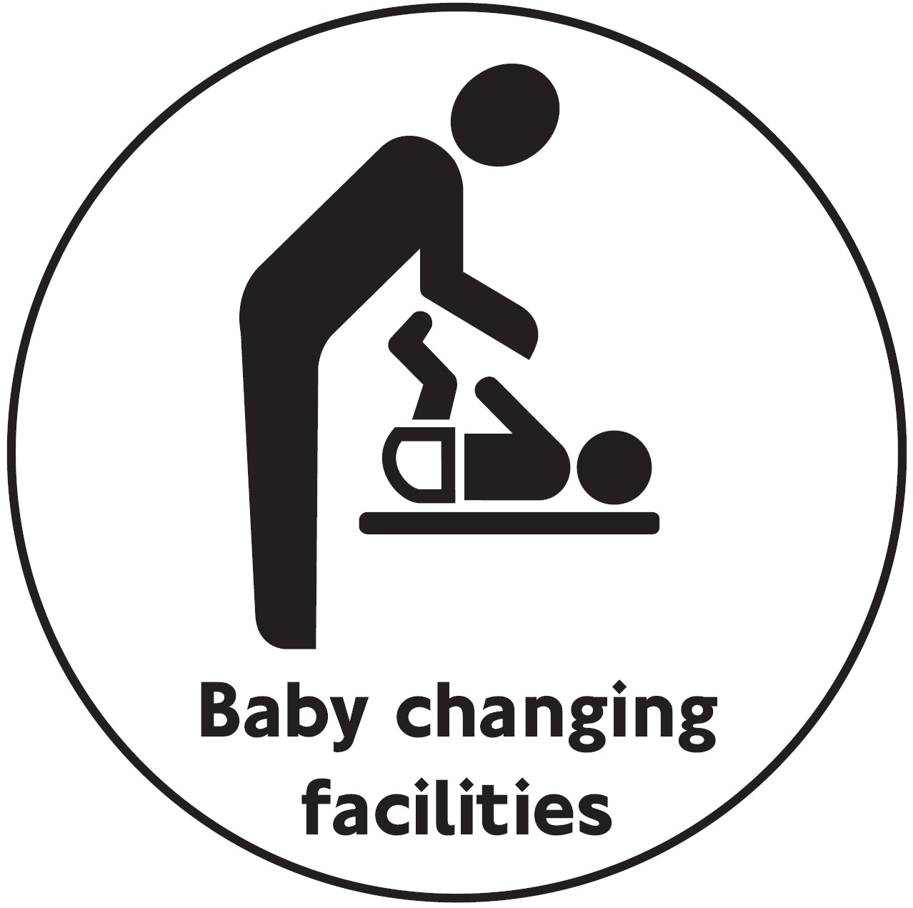 signs  u0026 labels 100mm dia baby changing facilities