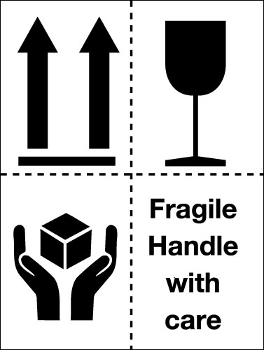 Signs Amp Labels 100x75mm Fragile Handle With Care Pictoral
