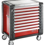 Product image for Facom 9 DRAWER RED ROLL CAB