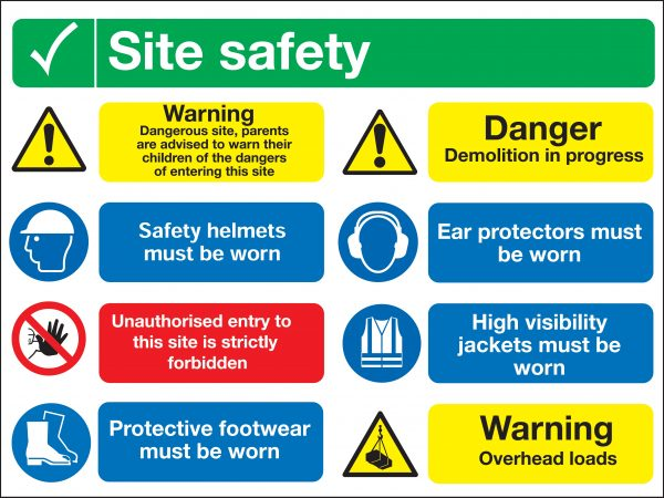 Signs Amp Labels 600x800mm Site Safety Dangerous Site